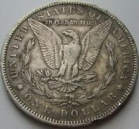 1890-O Morgan Silver Dollar in a SAFLIP® - XF- (VF+++) Details