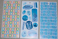 3 sheets Summer Retro POOL Party Alphabet ABC Funky Scrapbook Stickers