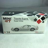 1/64 TSM MINI GT Toyota Supra JZA80 White Super White RHD MGT00014-R
