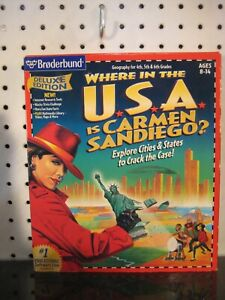 Where in the USA is Carmen Sandiego Windows 3.1 / 95 PC CD Geography Game Boxed