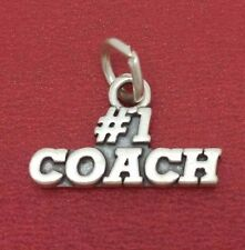 Coach Charm Sterling silver sports Basketball Netball Tennis Soccer Football