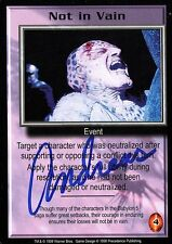 BABYLON 5 CCG Card Andreas Katsulas (1946-2006) Not in Vain AUTOGRAPHED