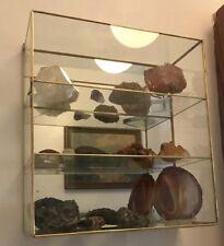 New Glass CURIO CABINET shelf for small Princess Cinderella Figurine display