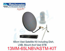 MATCHMASTER 65cm Satellite Kit Including Dish LNB Mount & Vast STB 13MM-65LNBVAS