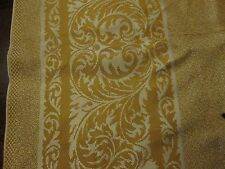 Vintage tablecloth gold damask unusual 44 by 46