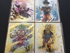 BANDAI Dragon Ball Shikishi 5 ART5 4 Sets Broly Son Goku Kiwami Dragonball ART 5