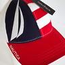 Nautica Baseball Cap Logo Red White Blue Adjustable Strapback Hat OSFM
