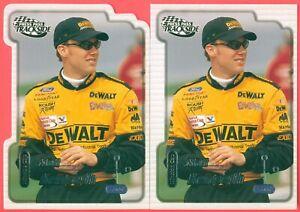 MATT KENSETH 2000 PP Trackside Both Cup Rookie Base & Die Cut Parallel Cards #22