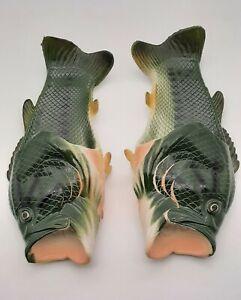 River's Edge Men's Bass Fish Sandals-Slides Contoured Foot-Bed Size 11/12 EUC
