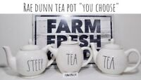 "Rae Dunn Teapot TEA STEEP ""YOU CHOOSE"" NEW HTF '18-'20"