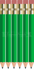 72 Green Half short mini small Golf Hexagon #2 Pencils ExpressPencilsTM