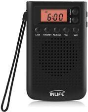 Mini Portatile Radio AM FM Digitale Stereo LCD Altoparlante con Auricolare