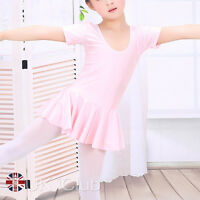 Children Costume Dancewear Lycra Dance Ballet Skirted Leotard Dress With Tights