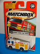 Matchbox 2001 Flame Eaters #30 Dennis Sabre Fire Truck White