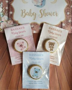 Personalised Baby Shower Chocolate Favours
