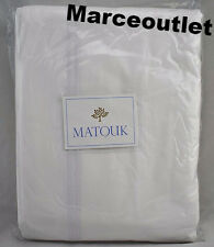 Matouk Essex Cotton Percale KING Duvet Cover White / White