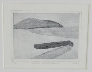 Toni Onley Etching Island Remembered Artist Proof Meares Island 1984