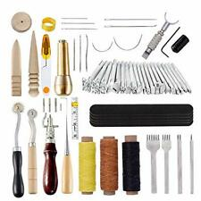 60 Pcs DIY Leather Craft Sewing Tools Set, Leather Punch Hole Hand Craft Leather