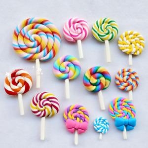 Random Assorted 12pcs Slime Charm Lollipop Bead Finding Bulk Lots