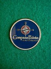 "Compass Pointe Golf Courses Ball Marker 1"" Metal Flat Coin - Pasadena, Maryland"