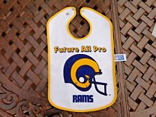 Vintage Los Angeles Rams Baby Bib Jersey Infant, Toddlers, 3Pcs  by RUSS  RARE !