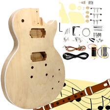 Electric Guitar DIY Mahogany Body Rosewood Fingerboard Kit Build Your Own Set US