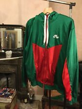 Men's Large Nike Air Boxing Style Green Red And White Zip Hoody