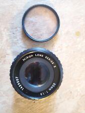 Nikon E-Series 50mm 1:1.8 Camera Black Lens For Nikon PLUS FILTER HOYA 52MM