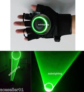 Vortex Green 532nm Laser Gloves DJ Dancing Club Rotating Laser Show Light Lazers