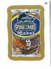 Wacky Packages Baseball 2016 GOLD PARALLEL Card 75 Charlotte Stone Crabs Cakes