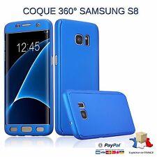 Etui Coque  Protection 100 % 360 Degré Samsung Galaxy S8 Bleu