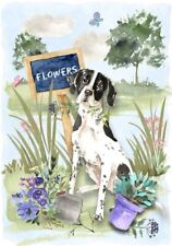 "Pointer Dog (4"" x 6"") Blank Card/ Notelet Design By Starprint"