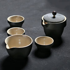 Ceramic Teapot + 3 Cups Travel Gongfu Tea Ware Set