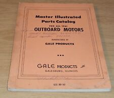 "1961 Boats/Watercraft Parts Catalog~""Outboard Motors""~Illustrated~Gale Products~"