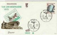 Germany Berlin 1972 Special post Signs Slogan Cancel FDC Stamps Cover Ref 24446