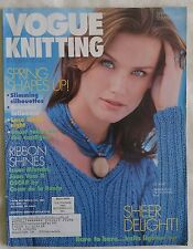 Vogue Knitting Pattern Magazine Spring Summer 1998 Womens Mens Golf Lace Sheers