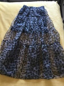 EXCELLENT CONDITION LADIES ZARA LONG FLOATY SKIRT SIZE S