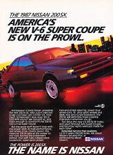 1987 Nissan 200-SX 200 SX - Classic Vintage Advertisement Ad PE101