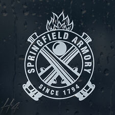 Springfield Armory Since 1794 Car Decal Vinyl Sticker For Window Panel Bumper