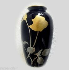 Noritake vase with cobalt blue color - gold roses - FREE SHIPPING