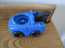 Fisher Price Little People Tow truck Garage mechanic road car vehicle blue fun
