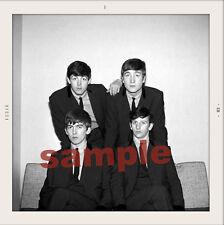 THE BEATLES UNIQUE GROUP 1963 SNAPSHOT. HI QUAL PAPER 5 BY 5 ENLARGEMENT SALE