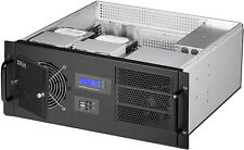 "4U LCD (D:14.96"")(3x5.25""+9xHDDs)(Rackmount Chassis)(R-PS OK!)(mATX/ITX)Case NEW"