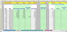 Market stall trader bookkeeping spreadsheet template (non-VAT) for 2018 year end