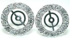 1.5Ct TAPERED Diamond Earring JACKETS For 7-8.5mm Studs