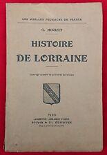 G. Morizet: Histoire de Lorraine (1926)