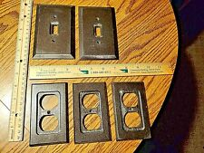 Lot of 7 matching Wood Electrical Outlet Cover Plates, switch receptacle covers!