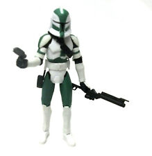 "STAR WARS  CLONETROOPER Commander Gree 3.75"" figure Removable Helmet RARE!"