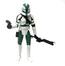 "STAR WARS  CLONETROOPER Commander Gree 3.75"" figure Removable Helmet RARE!"
