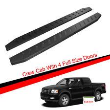 """78"""" Black Raptor Running Boards For 04-08 Ford F150 Super Crew Cab Side Steps"""
